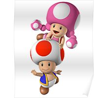 Toad & Toadette Merch Poster