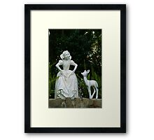 Snow White Wishing Framed Print