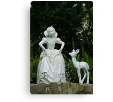 Snow White Wishing Canvas Print