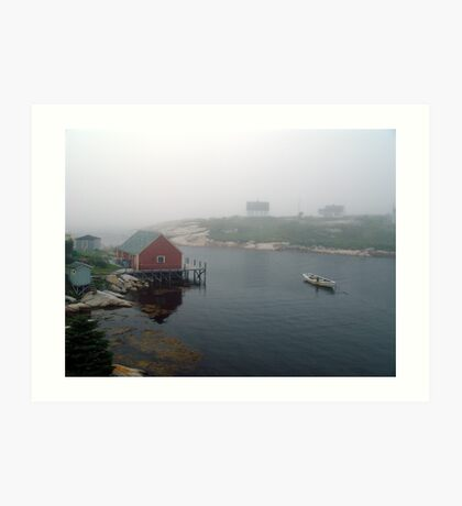 Foggy Day in Peggy's Cove (1) Art Print