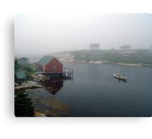 Foggy Day in Peggy's Cove (1) Canvas Print