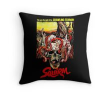 SQUIRM '76 Throw Pillow