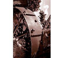 Spoken Wheel in Stump Photographic Print