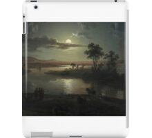 Abraham Pether - Evening Scene With Full Moon And Persons (1801) Painting Photograph iPad Case/Skin