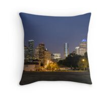 Houston Past Dusk Throw Pillow