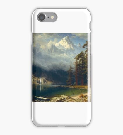 Albert Bierstadt - Mount Corcoran Painting Photograph iPhone Case/Skin
