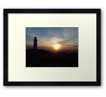 Fireball Descending Framed Print