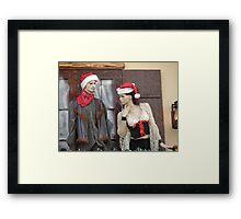 Pssst! Santa's On His Way! Framed Print