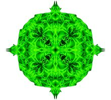 """""""Spirit of India: Blossom - Gothic Flower"""" in emerald green by FireFairy"""
