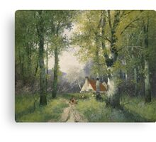 Adolf Kaufmann Frühling Painting Photograph Canvas Print