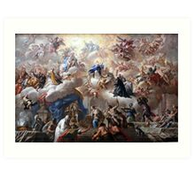 1710-15 de Matteis Triumph of the Immaculate Anagoria Painting Photograph Art Print