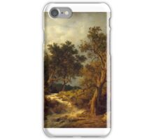 Andreas Achenbach - Landschaft mit Bach Painting Photograph iPhone Case/Skin