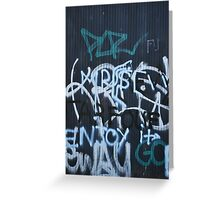 French Graffiti Greeting Card