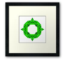 """Spirit of India: Blossom - Ring"" in emerald green Framed Print"