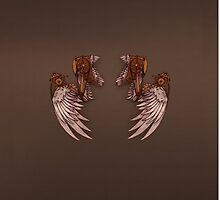 Steampunk Angel Wings-Phone Cover by AngelaZA