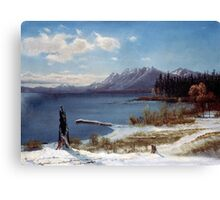 Albert Bierstadt - Lake Tahoe in Winter Painting Photograph Canvas Print