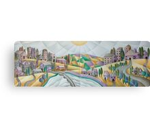 Once  upon a time there was a village on a hill Canvas Print