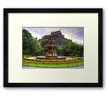 Fountain and Castle Framed Print