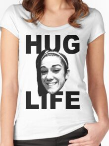 HUG LIFE - Black Font Women's Fitted Scoop T-Shirt