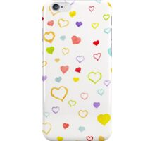 Watercolor litlle hearts iPhone Case/Skin