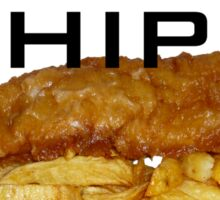 I Wish I Had Some Fish n Chips (Black Text) Sticker