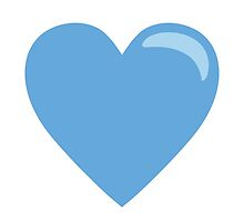 Blue Heart EmojiOne Emoji by emoji