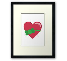 Heart With Ribbon EmojiOne Emoji Framed Print