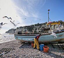 Preparing The Catch - Beer, Devon by Susie Peek