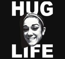 HUG LIFE - White Font Kids Clothes