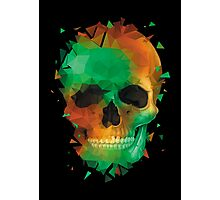 Geometry Reconstruction Skull Photographic Print