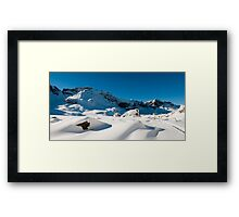 Melchseefrut in winter Framed Print