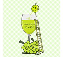 How Wine is Made Funny Illustration Photographic Print