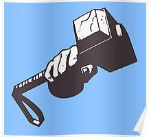 Thor hammer Poster