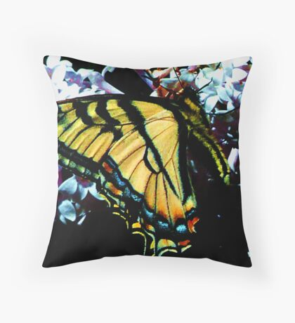 Yellow Wings Throw Pillow