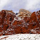 Snow at Calico Hills by Benjamin Padgett