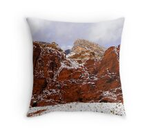 Snow at Calico Hills Throw Pillow