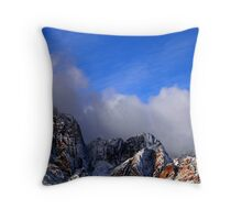 Snow and Moon, Red Rock Canyon Throw Pillow
