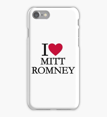 I love Mitt Romney iPhone Case/Skin