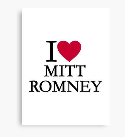I love Mitt Romney Canvas Print
