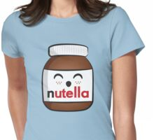 Nutella face 3 Womens Fitted T-Shirt