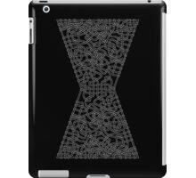Celtic Black Widow Logo Avengers White no fill iPad Case/Skin