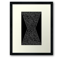 Celtic Black Widow Logo Avengers White no fill Framed Print