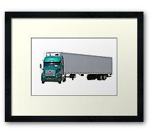 Green Semi Truck Framed Print