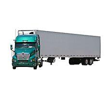 Green Semi Truck Photographic Print