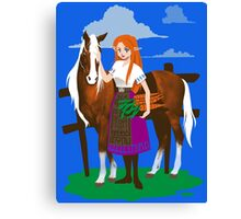 Malon and the Horse Canvas Print
