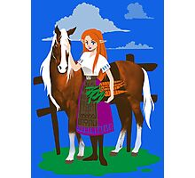 Malon and the Horse Photographic Print