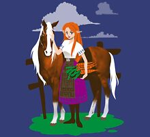Malon and the Horse Unisex T-Shirt