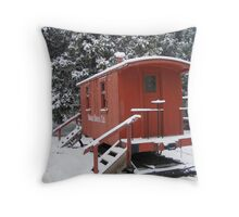 The Frozen Train Car Throw Pillow