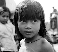 Little Viet girl on road 14 by Bill2