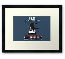 Dalek Pest Control Framed Print